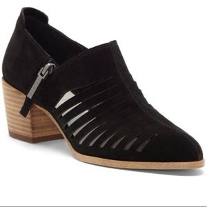 1. State Black Arnet Leather Suede Bootie